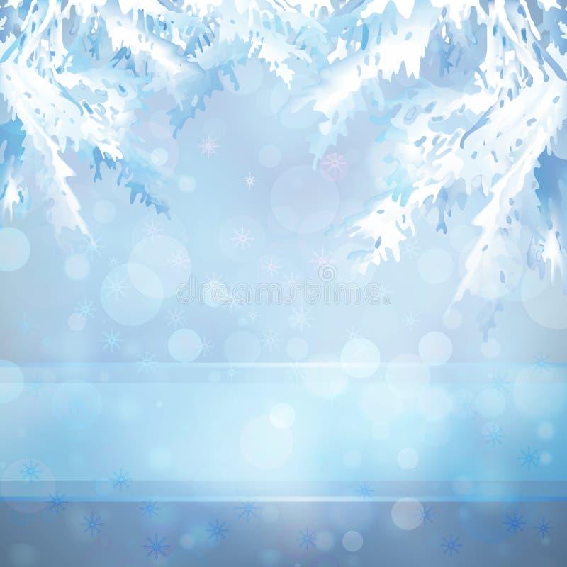 Priorità bassa di natale con le filiali dell'albero di Natale royalty illustrazione gratis