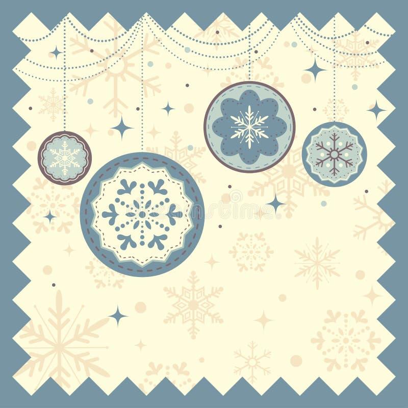 Priorità bassa di natale di inverno royalty illustrazione gratis