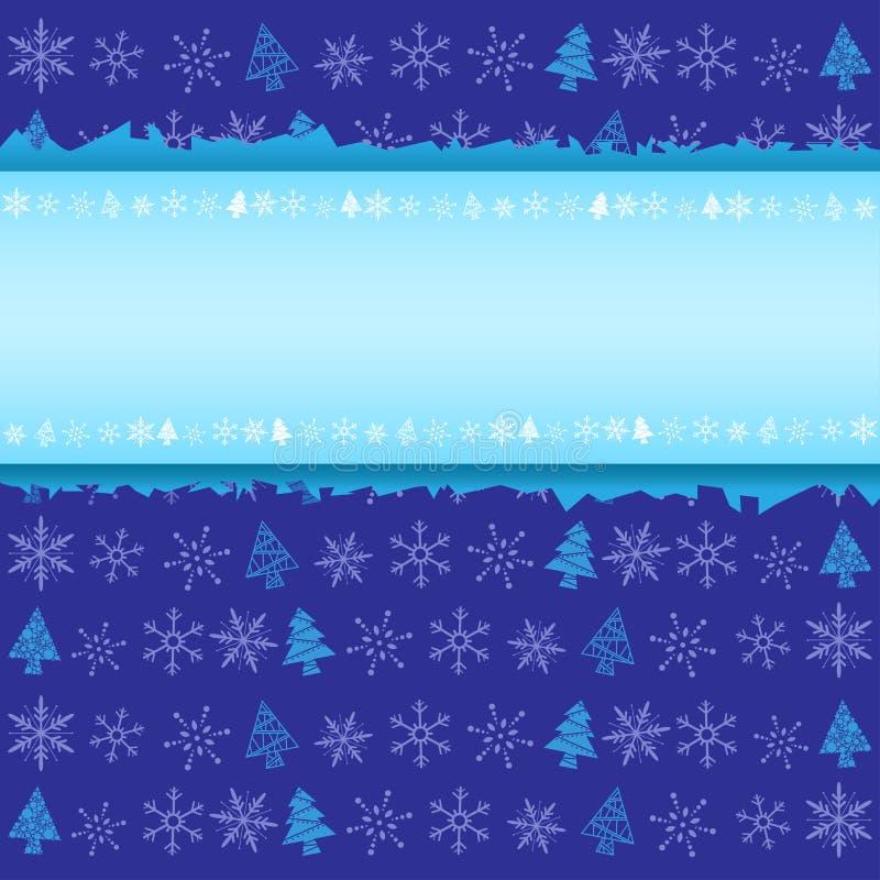 Priorità bassa di natale di inverno illustrazione di stock