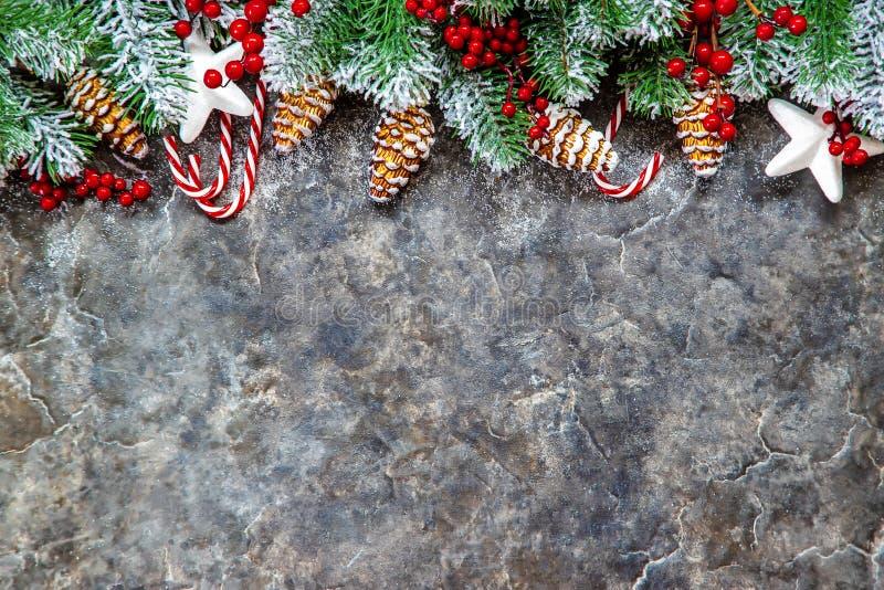 Priorità bassa di natale Nuovo anno felice Fuoco selettivo immagini stock