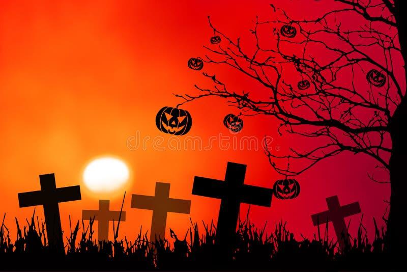 Priorità bassa di notte di Halloween royalty illustrazione gratis