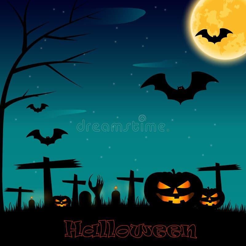 Priorità bassa di notte di Halloween illustrazione di stock