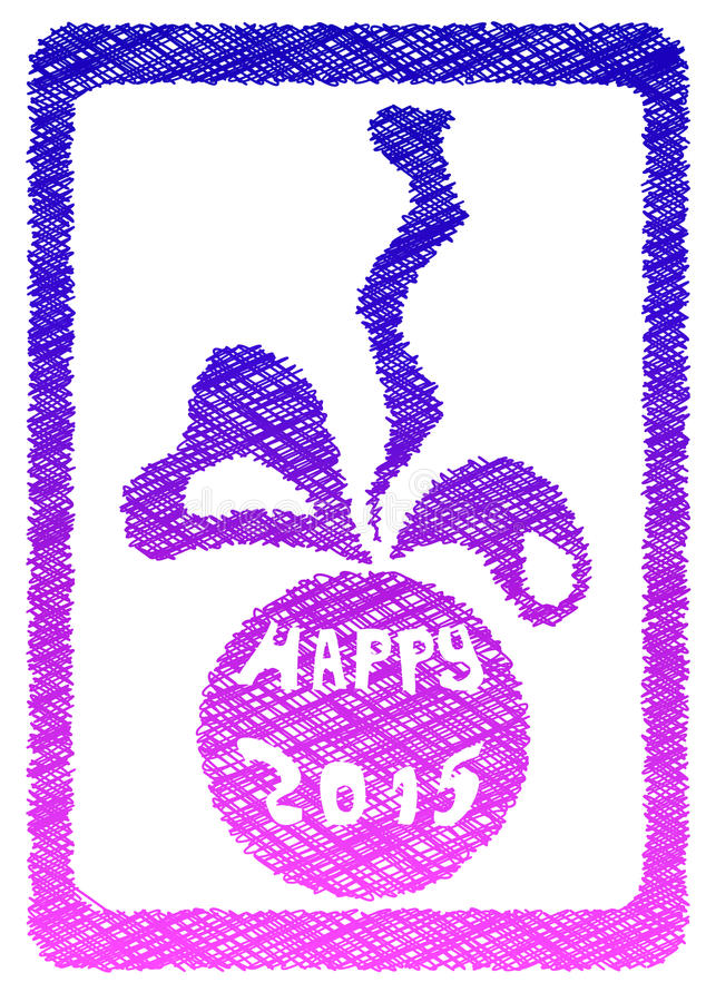 Priorità bassa di nuovo anno felice royalty illustrazione gratis