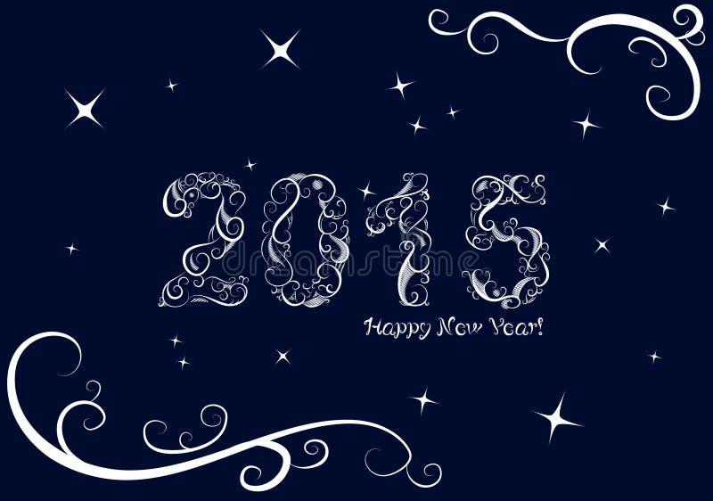 Priorità bassa di nuovo anno felice illustrazione di stock