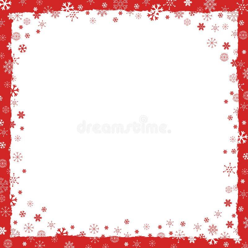 Priorità bassa di nuovo anno (natale) con il bordo illustrazione vettoriale