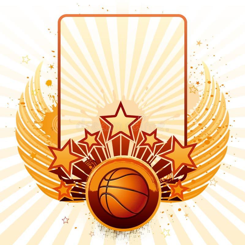 Priorità bassa di pallacanestro illustrazione di stock