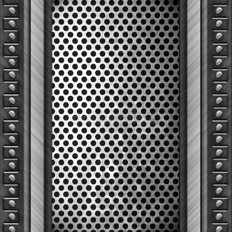 Priorità bassa di piastra metallica d'acciaio illustrazione vettoriale