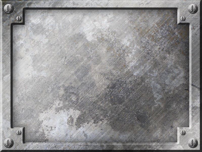 Priorità bassa di piastra metallica di Grunge illustrazione di stock