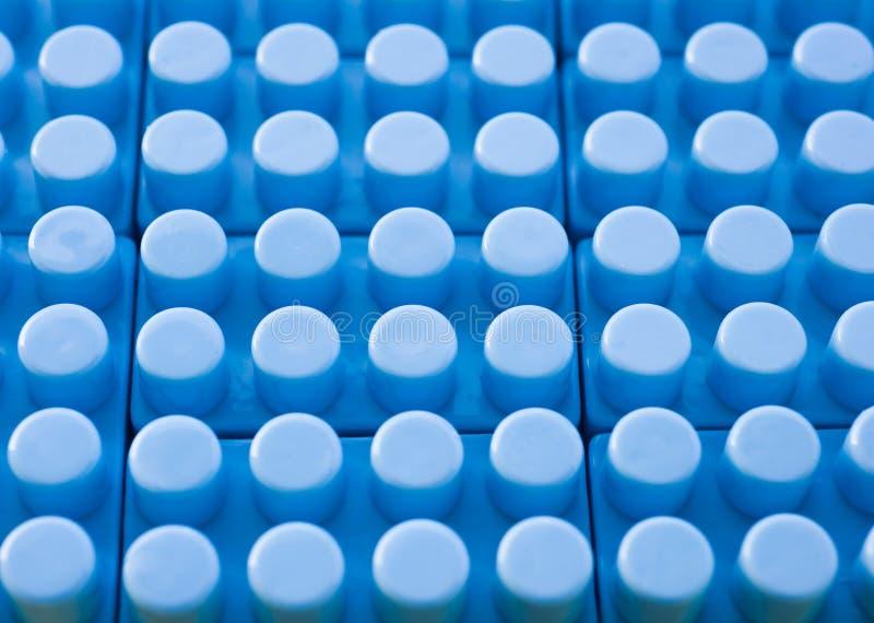 Priorità bassa di plastica blu della costruzione immagine stock