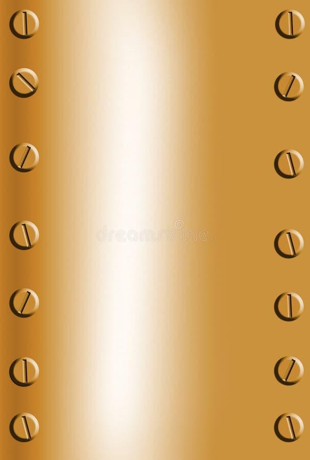 Priorità bassa di rame del metallo royalty illustrazione gratis