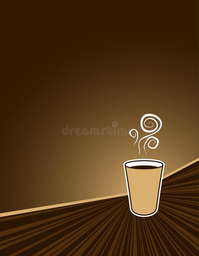 Priorità bassa di sbalzo del caffè illustrazione di stock