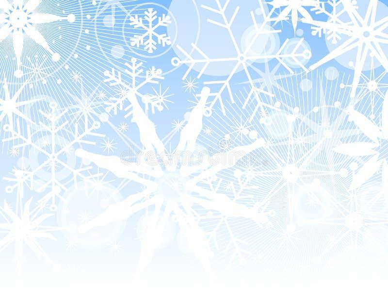 Priorità bassa di sbiadisc del fiocco di neve illustrazione di stock
