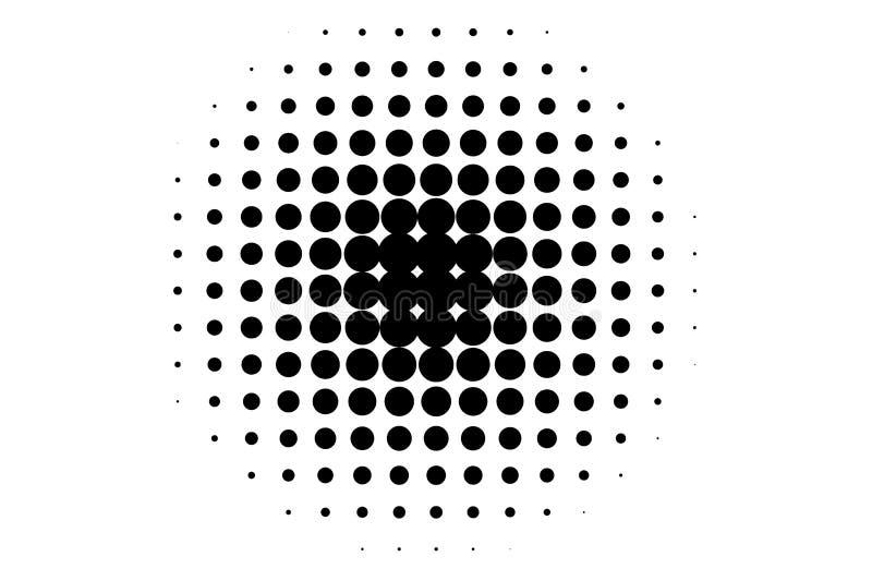 Priorità bassa di semitono Modello astratto nello stile di Pop art Annata, retro contesto Illustrazione futuristica di vettore de illustrazione di stock