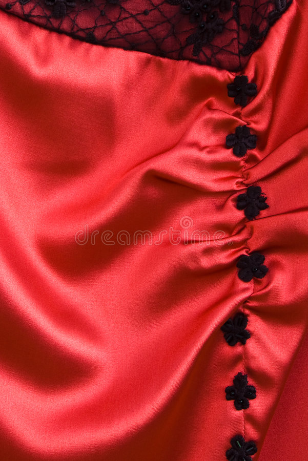 Priorità bassa di seta rossa fotografie stock libere da diritti