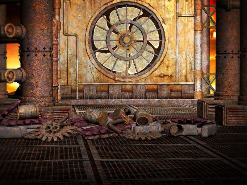 Priorità bassa di Steampunk illustrazione di stock