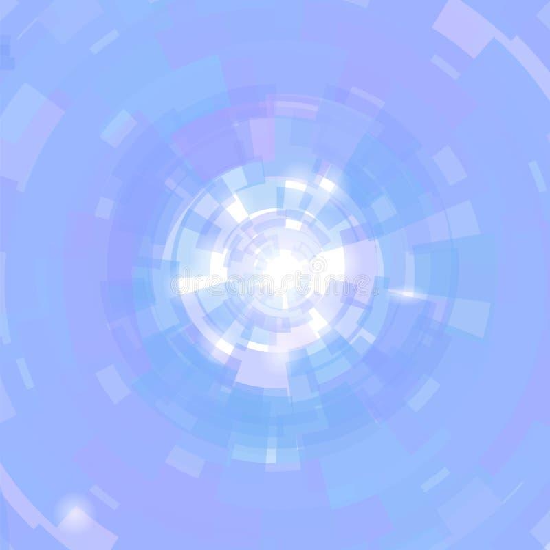 Priorità bassa di Sun Reticolo blu Priorità bassa luminosa di estate Struttura scintillante con il chiarore Flash della stella Es royalty illustrazione gratis