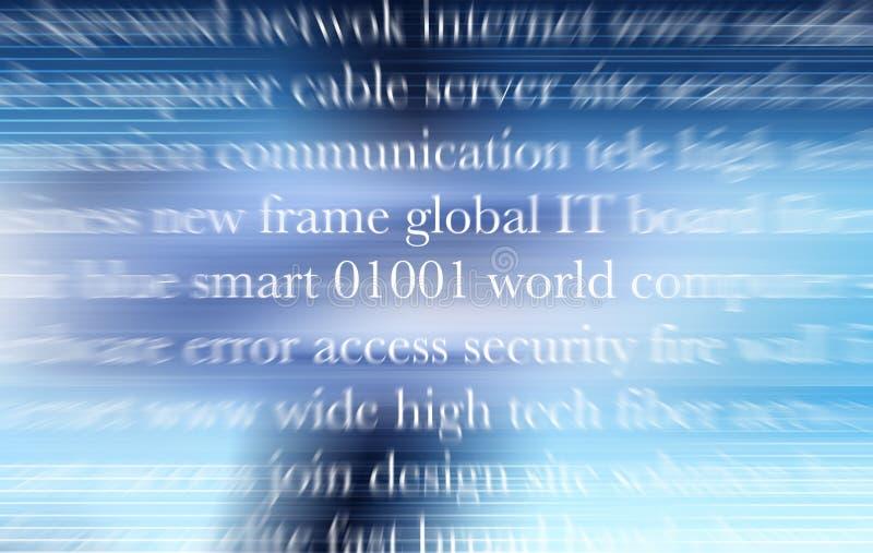 Priorità bassa di tecnologia con le lettere bianche illustrazione di stock