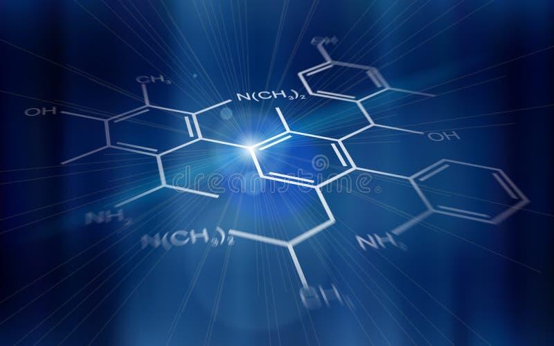 Priorità bassa di tecnologia: formule chimiche illustrazione vettoriale