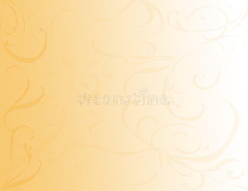 Priorità bassa di turbinio dell'oro fotografia stock libera da diritti
