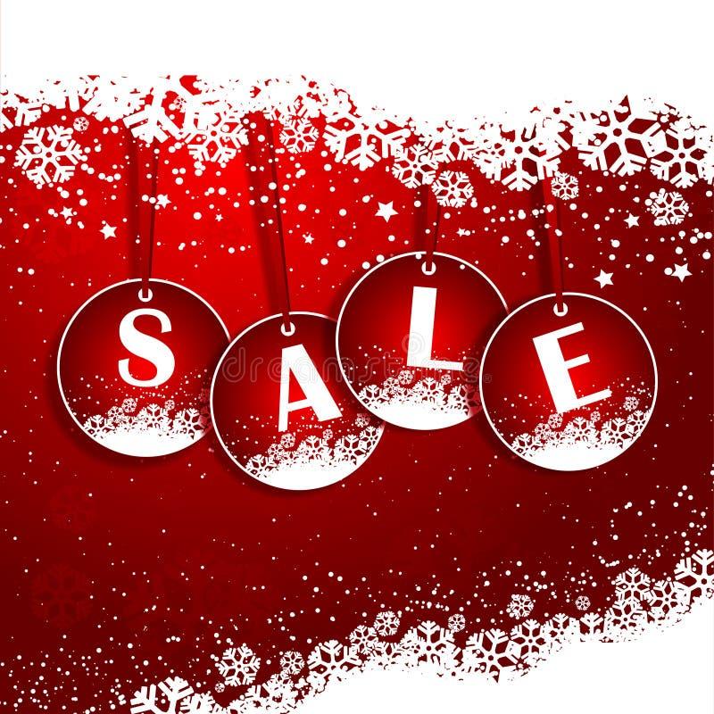 Priorità bassa di vendita di natale royalty illustrazione gratis
