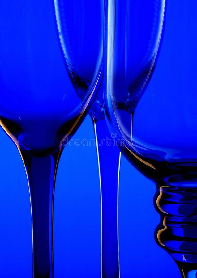 Priorità bassa di vetro blu II fotografia stock