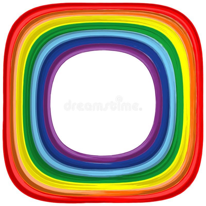 Priorità bassa di vettore dell'estratto del blocco per grafici del Rainbow di arte illustrazione vettoriale