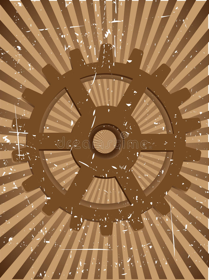 Priorità bassa di vettore di Grunge Steampunnk dell'attrezzo illustrazione vettoriale