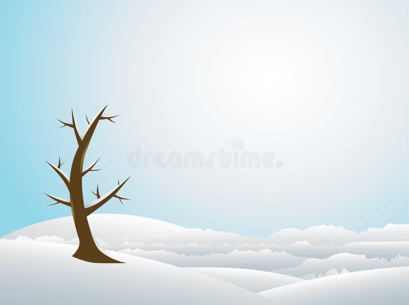Priorità bassa di vettore di inverno di paesaggio fotografie stock libere da diritti