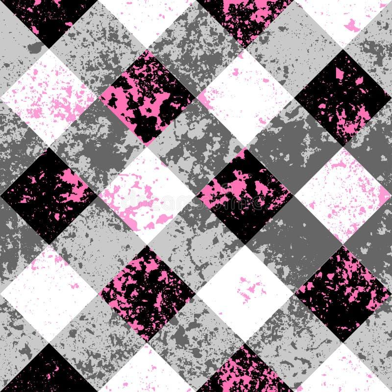 Priorità bassa diagonale del plaid royalty illustrazione gratis