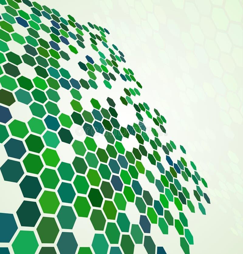 Priorità bassa digitale astratta verde royalty illustrazione gratis