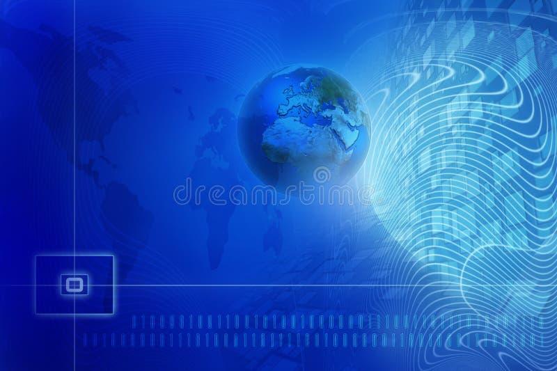 Priorità bassa digitale blu illustrazione di stock