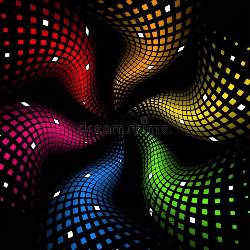 priorità bassa dinamica astratta del Rainbow 3d illustrazione vettoriale