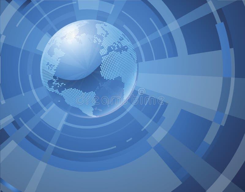 Priorità bassa dinamica del globo del mondo 3d illustrazione di stock