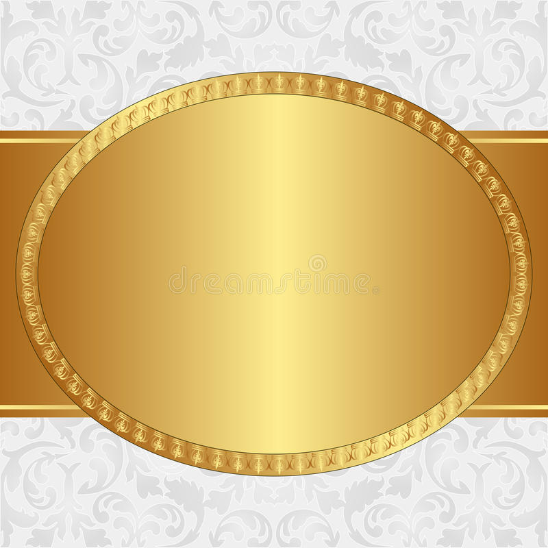 Priorità bassa dorata illustrazione di stock
