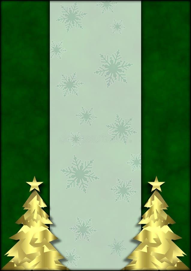 Priorità bassa dorata dell'albero di Natale fotografie stock libere da diritti