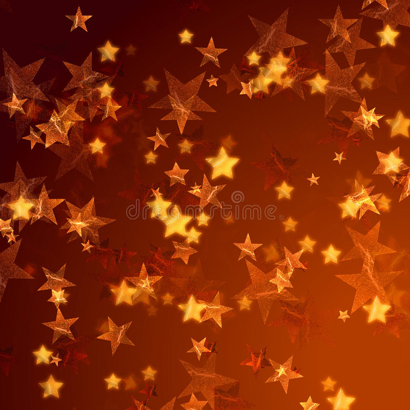Priorità bassa dorata delle stelle illustrazione vettoriale