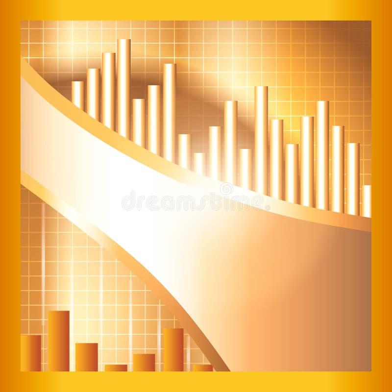Priorità bassa dorata di tecnologia di stile immagini stock