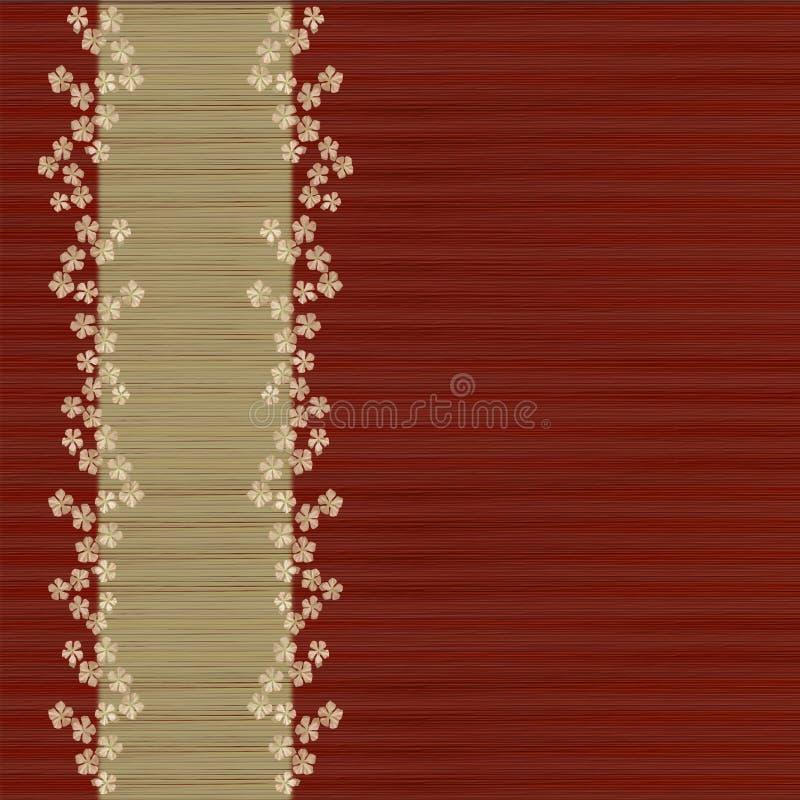 Priorità bassa e barra dei menu rosse a stecche floreali fotografia stock