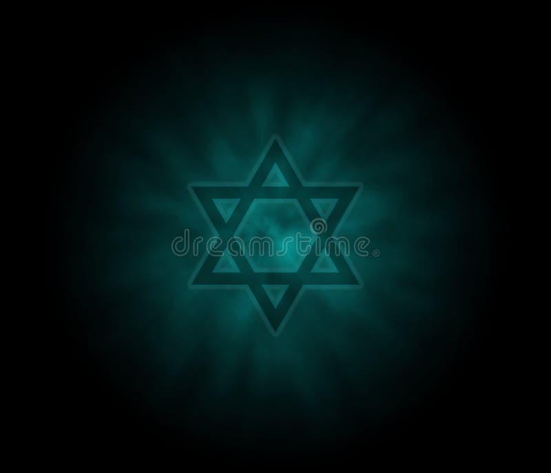 Priorità bassa ebrea di Yom Kippur con la stella di David illustrazione di stock