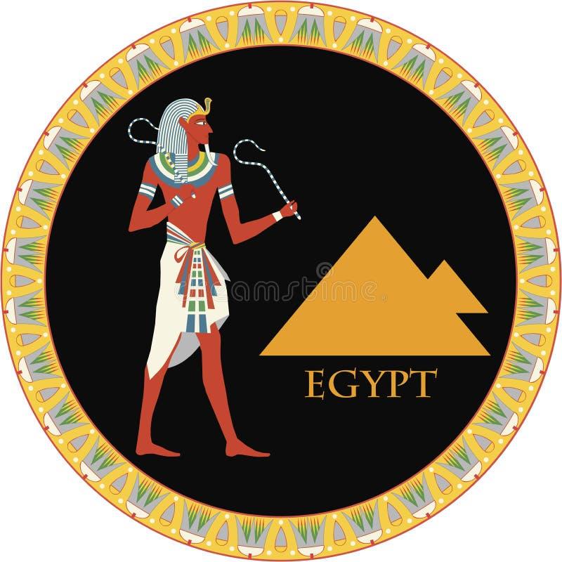 Priorità bassa egiziana di vettore royalty illustrazione gratis