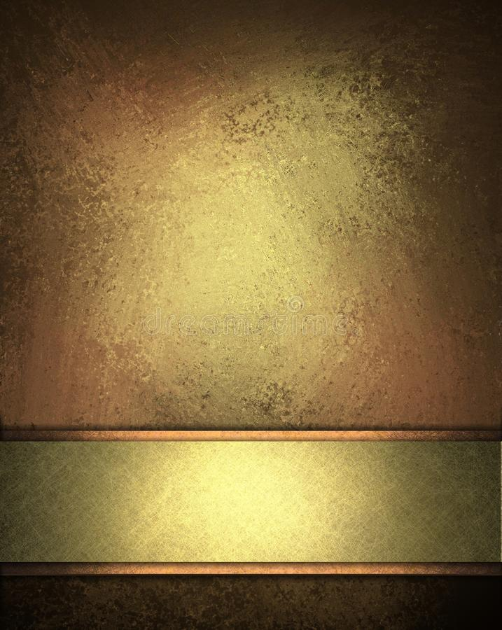 Priorità bassa elegante di colore marrone dell'oro royalty illustrazione gratis