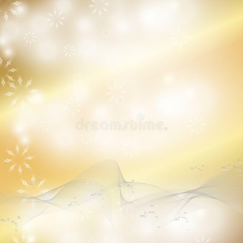 Priorità bassa elegante di natale con i fiocchi di neve e posto per testo royalty illustrazione gratis
