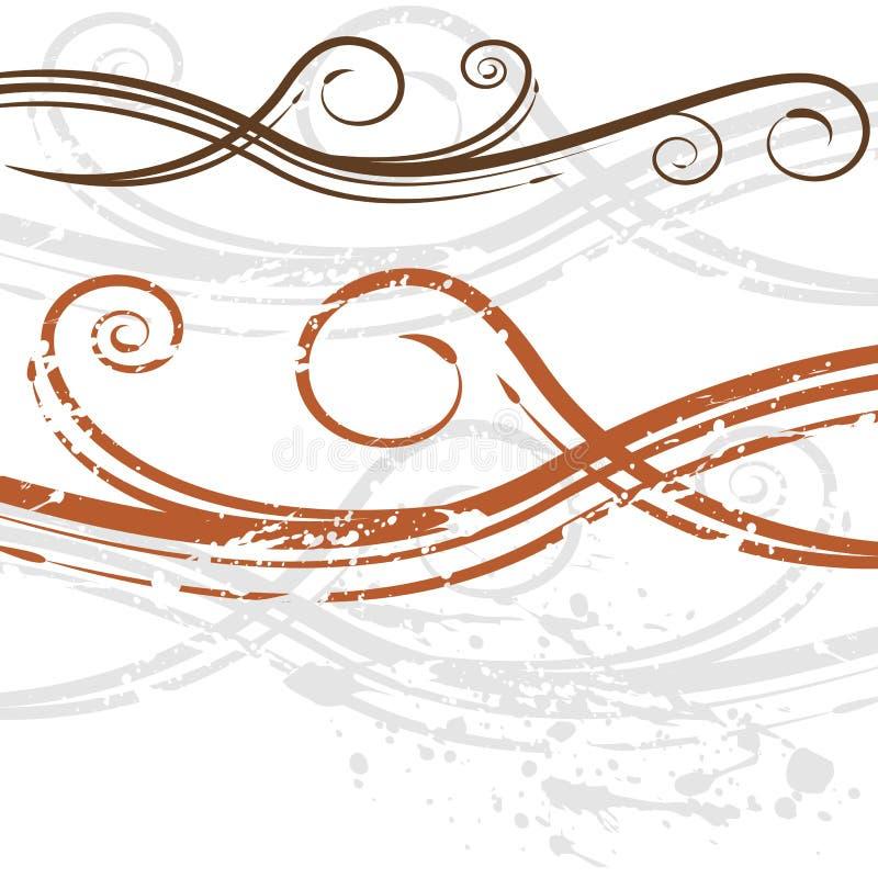 Priorità bassa elegante di turbinio dell'invito di cerimonia nuziale illustrazione di stock