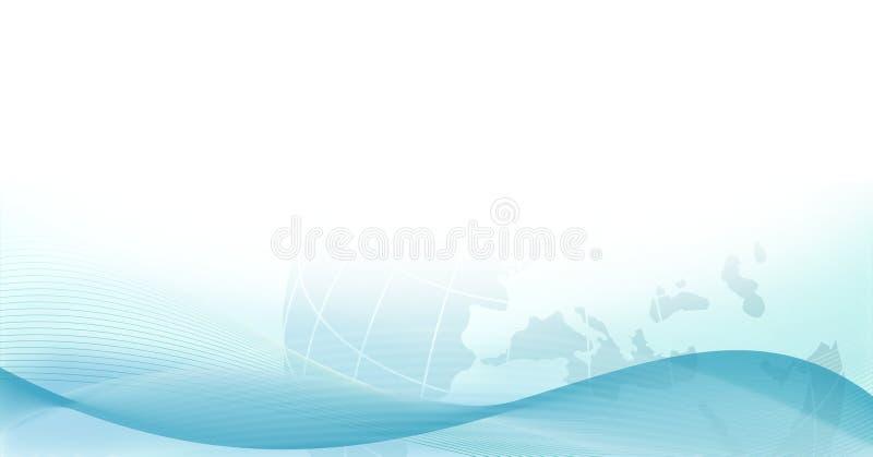 Priorità bassa elegante di Web con terra e le onde royalty illustrazione gratis