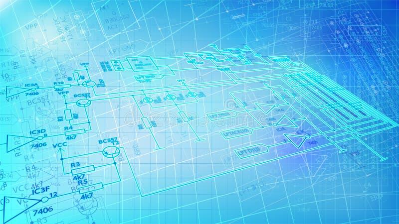 Priorità bassa elettronica futuristica del collegare royalty illustrazione gratis