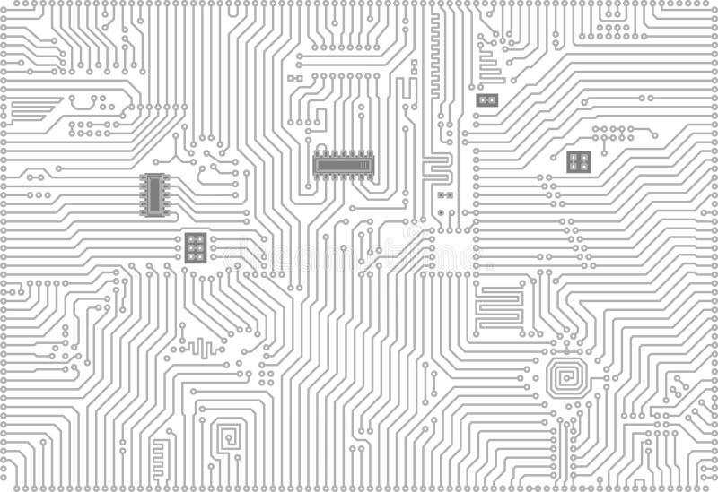 Priorità bassa elettronica industriale alta tecnologia di vettore illustrazione di stock