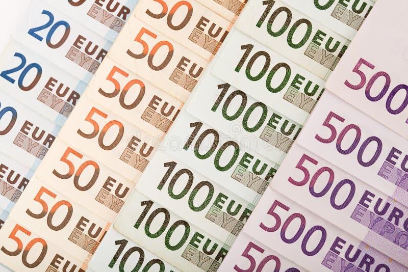 Priorità bassa europea delle banconote di valuta immagine stock
