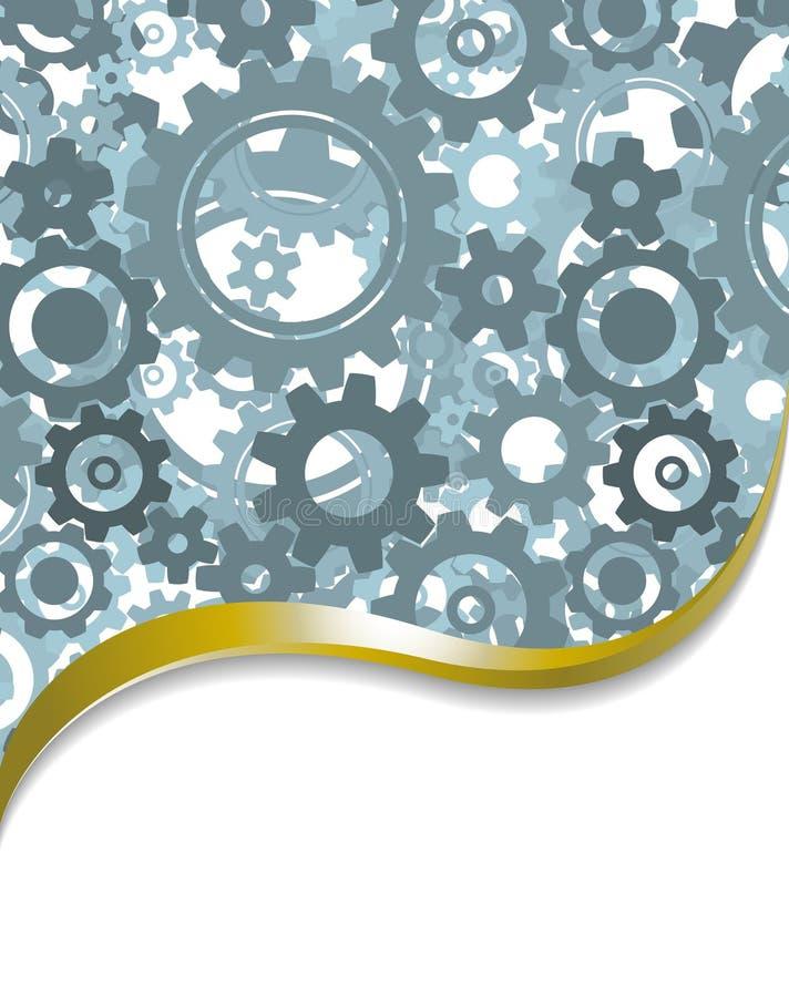 Priorità bassa fatta dalle ruote dentate illustrazione di stock