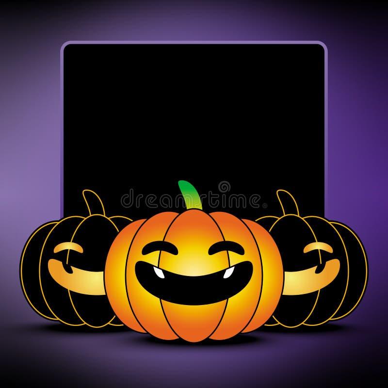 Priorità bassa felice della zucca di Halloween illustrazione vettoriale