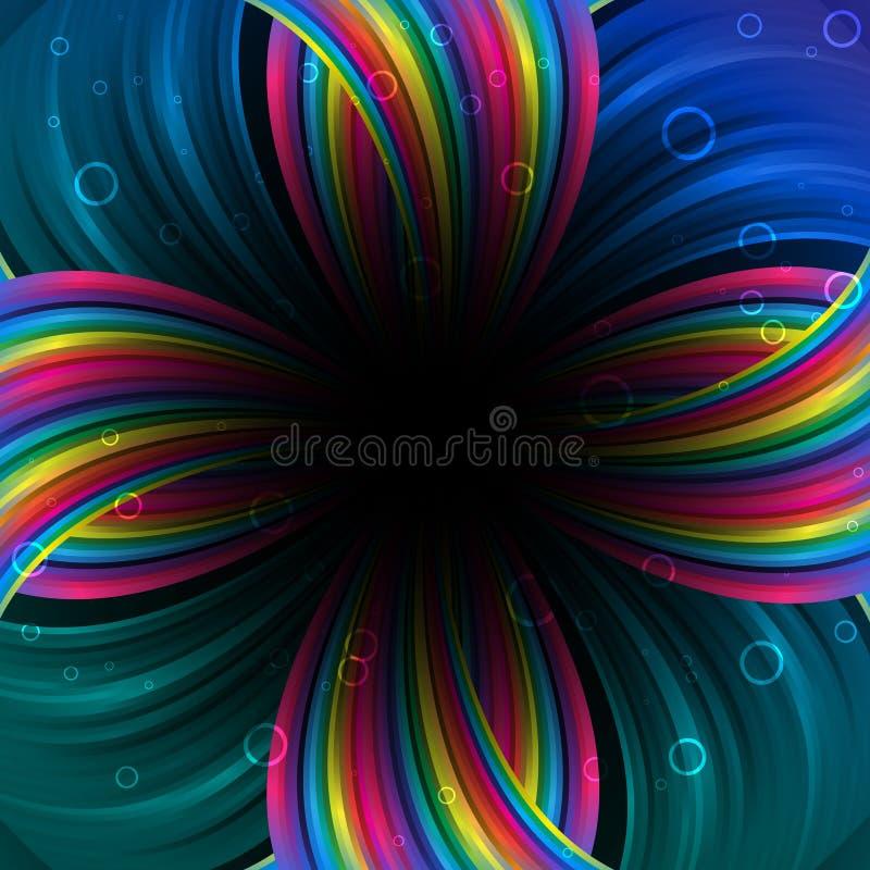 Priorità bassa festiva astratta del Rainbow royalty illustrazione gratis